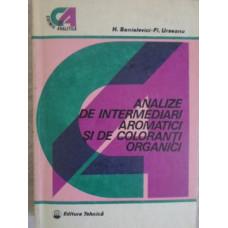 ANALIZE DE INTERMEDIARI AROMATICI SI DE COLORANTI ORGANICI