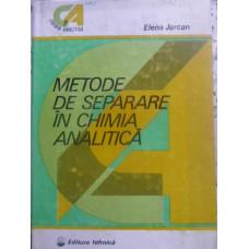 METODE DE SEPARARE IN CHIMIA ANALITICA