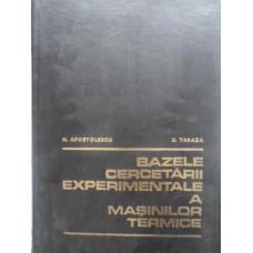 BAZELE CERCETARII EXPERIMENTALE A MASINILOR TERMICE